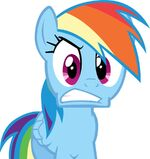 Rainbow Dash isn't pleased