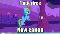 My Little Brony meme comic Fluttertree now canon