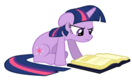 Twilight Sparkle reading vector