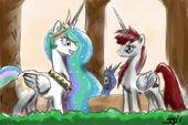 62145 - Alicorn artist-johnjoseco Celestia Lauren Faust Luna mother mare OC ponified