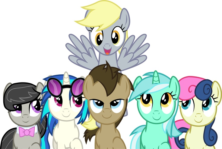 Image Background pony Mane 6