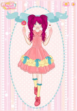 Pinkie Pie with a lollipop and cupcake