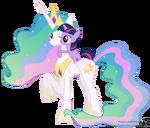 Princess celestia and twilight sparkle hugging 3 by 90sigma