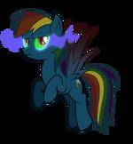 Rainbow Dash infected by dark magic by artist-tzolkine