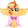 AU Princess Sunset in her coronation dress by xebck.png