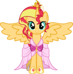 AU Princess Sunset in her coronation dress by xebck
