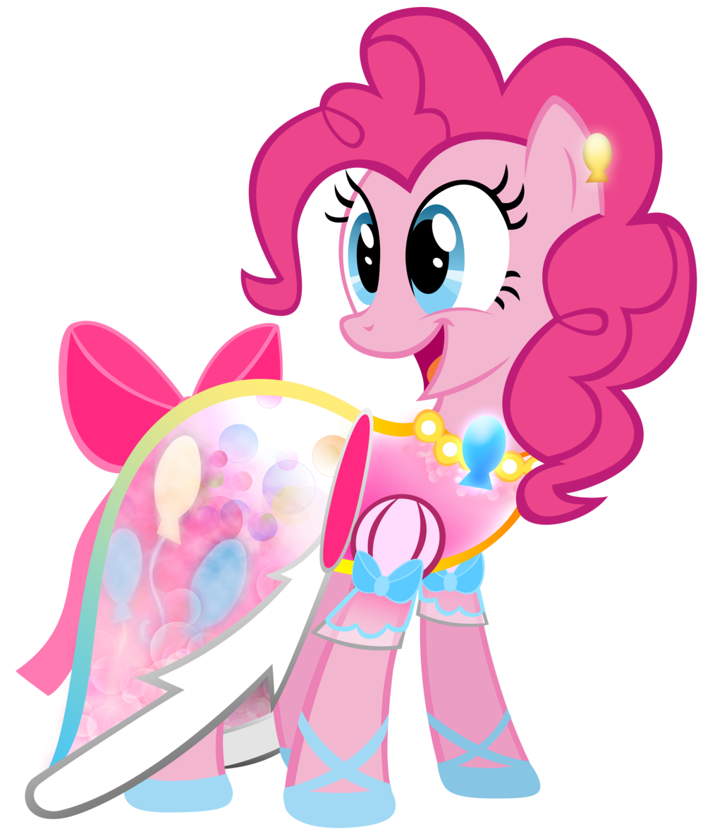 pinkie pie in a dress complete with a necklace and bowpng
