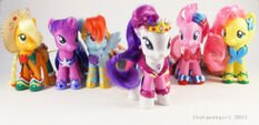 Mane six toys in gala dresses