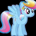 Rainbow Dash as a Crystal pony