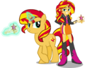 Sunset Shimmer And Sunset Shimmer by Vector-Brony.png