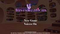 My Little Investigations title screen