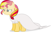 Sunset Shimmer's simplistic wedding dress by ShutterflyEQD