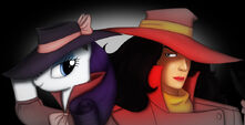 Rarity and Carmen Sandiego Femme Fatale by Gennbu