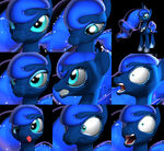 Princess Luna 3D expressions by 2Snacks