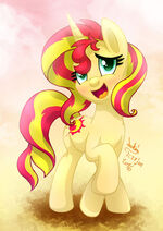 MLP FIM Sunset Shimmer blush by joakaha