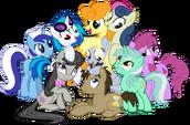 Background pony Mane 6 and friends