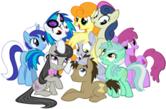 Background pony Mane 6 and friends