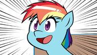 Anime Rainbow Dash screenshot from SWAG(dot)MOV