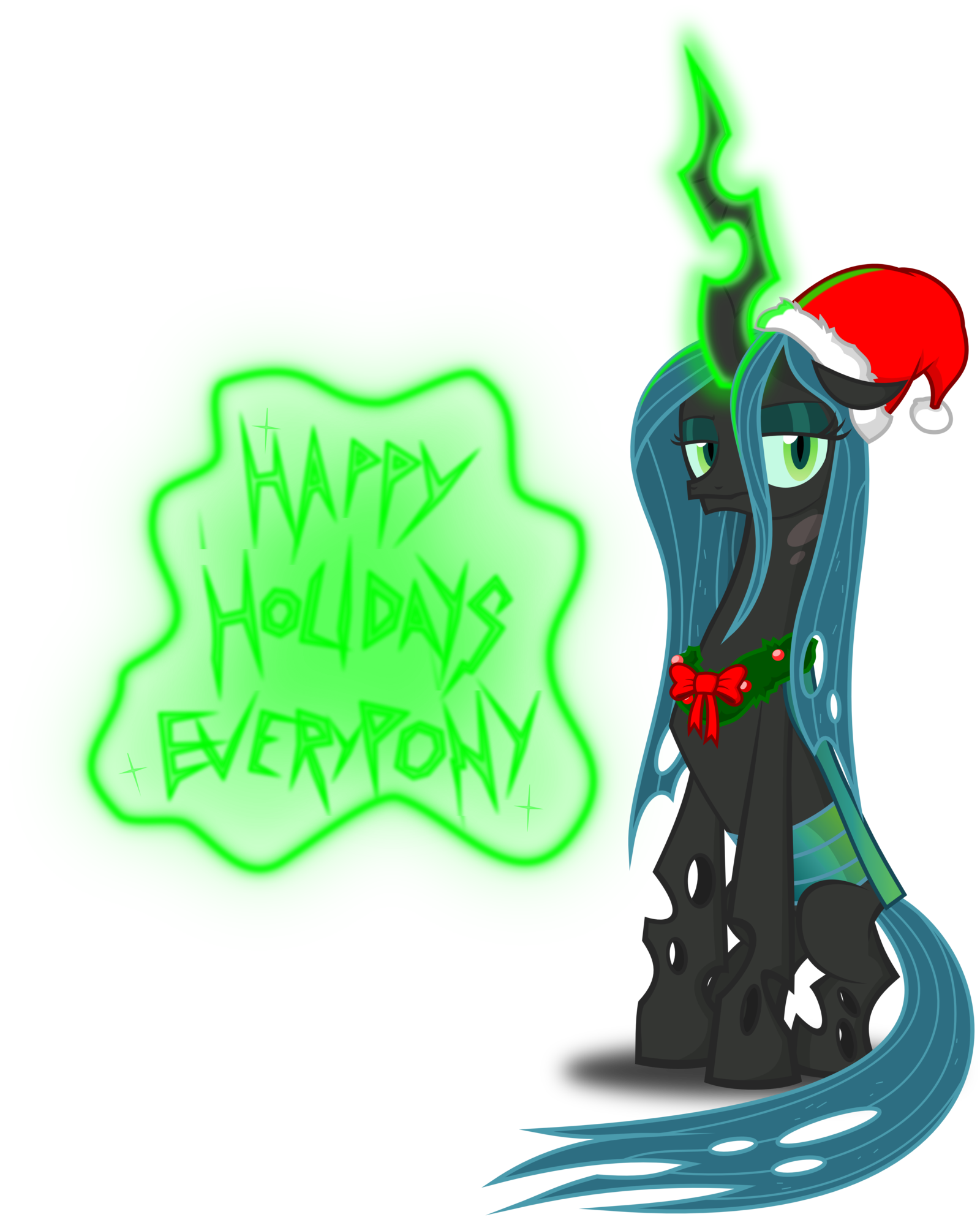 Image - Queen Chrysalis Christmas pony by artist-zimvader42.png | My ...