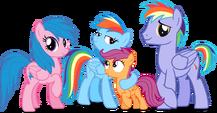 Rainbow dash's family by hampshireukbrony