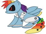 Metal Rainbow Dash by cooleevee759