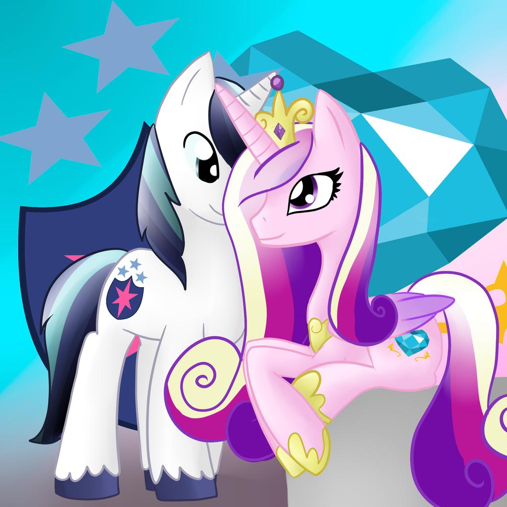 Image - Princess cadence and shining armor by lupie1324 ...