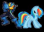 Rainbow Dash and Mega Man