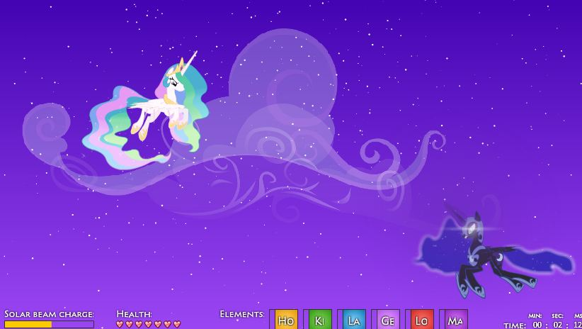 My Little Pony Coloring Pages Nightmare Moon : Image celestia fighting nightmare moon g my little pony fan