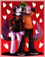Spike and Rarity Valentine by ss2sonic
