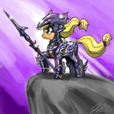 Applejack the dragoon by johnjoseco