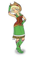 Humanized applejack in dress by empty 10-d39vdp3