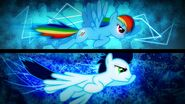 Rainbow Dash and Soarin wallpaper by artist-karl97885
