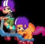 Scootaloo and scootaloo by hampshireukbrony