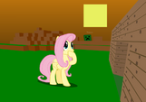 Fluttershy plays Minecraft by awesometwostudios