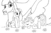 My Little Pony portada para colorear by reina del caos