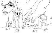 My Little Pony portada para colorear by reina del caos