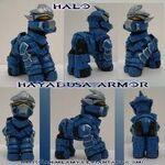 Halo Ponies, blue variant