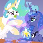 Princess Celestia and Princess Luna by artist-equestria-prevails