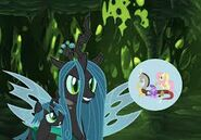 Queen Chrysalis observing