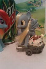 Derpy modified doll with mail cart