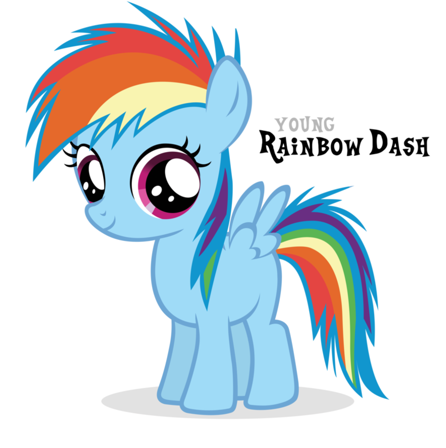 Image - Rainbow Dash Filly by Blackm3sh.png   My Little Pony Fan ...