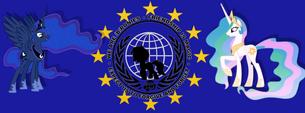 European Union flag Princess Celestia and Princess Luna by artist-xyrowebwyre