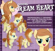 Cream Heart Plush Promo by LunarShine