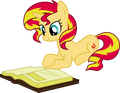 Sunset Shimmer Reading by Elsia-pony.png