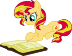 Sunset Shimmer Reading by Elsia-pony