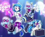 Equestria Girls Vinyl Scratch and Photo Finish by uotapo