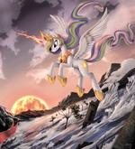 Princess Celestia (The Fallen of Equestria) background wallpaper by artist-ponykillerx