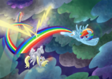 Derpy and Rainbow Dash by LeavingCrow