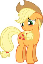 Applejack Flattered