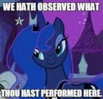 Luna saw what you did there